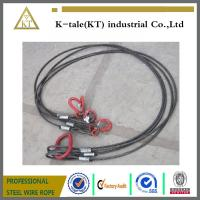 China Heavy trailer towing cable black steel wire rope sling /rigging on sale