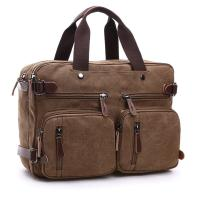China Dual Use Canvas Office Laptop Bags ,  15 Inch Laptop Messenger Bags School Use Durable wholesale