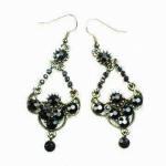 China Fashion earring ,Dangle Drop Earrings with Rhinestone Main Stone for Gift wholesale
