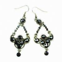 Buy cheap Fashion earring ,Dangle Drop Earrings with Rhinestone Main Stone for Gift from wholesalers