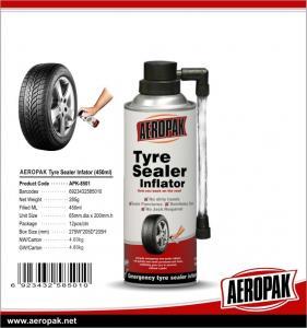 China Aeropak Tyre Sealer & Infaltor, Emergency flat tyre fix, Tyre Sealant, fast repair, best seller 450ml wholesale