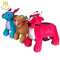 China Hansel fair attractions children electric motorized plush riding animals on sale