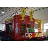 China Yellow Bouncy Castle For Children / Inflatable Happy Hop Jumping Castle wholesale