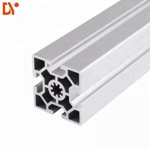 China Square 6063 Extrusion Aluminium Tube Sections , Customized V Slot Aluminum Profile wholesale