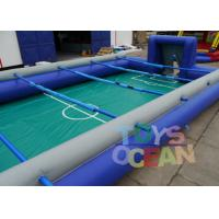 China Team Building Fun Sport Inflatable Interactive Games Human Football Table Soccer Field wholesale
