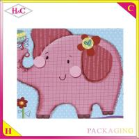 China Cartoon animal hand length handle paperboard gift bag wholesale