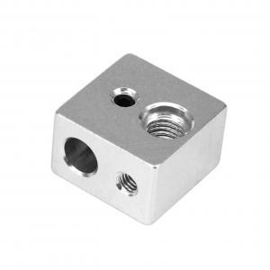 China Aluminum 20mm*20mm*13mm MK10 3D Printer Heater Block M7 Screw thread wholesale