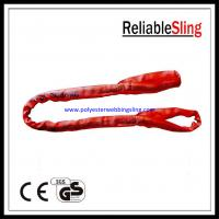 China Soft eye and eye Flat Polyester Round Slings belt with CE / GS / ISO Standard on sale
