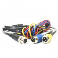 China 9pin Din To 2x4pin Backup Camera Cable Metal Plug For Vehicle CCTV Camera System wholesale
