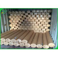 China 50gsm - 80gsm Plotter Paper Roll Soft Smoothy Wood Pulp Material White Color wholesale