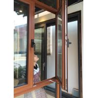 China Inward Swing Opening Casement Window With Tempered Glass / Aluminum Clad Casement Windows wholesale