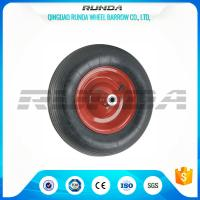 China Abrasion Resistant Heavy Duty Rubber Wheels , 4PR Heavy Duty Wheels For Trolleys  on sale