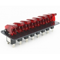 China 12V Racing Car Ignition Start Switch 8 Red LED Toggle Button Panel Exquisite wholesale