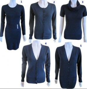 China Stock Knitted Fashion Sweater wholesale