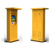 China Interactive Touch Screen Half Outdoor Kiosk Waterproof With TFT LCD Monitor wholesale