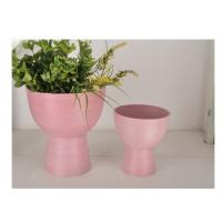 China Elegant Lightweight Plastic Planters , Eco Friendly Pink Outdoor Planters wholesale