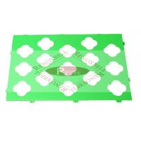 Quality Green Perforated Aluminum Panels For Facade System / Curtain Wall for sale