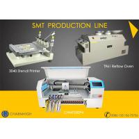 Buy cheap Advanced SMT production Line, 4 heads pick and place machine CHMT530P4 , 3040 Printer, T961 Reflow oven from wholesalers