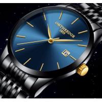 Quality Wholesale Oem Classic Fashion Men 7mm Super  thin 316L Stainless Steel 3 ATM Waterproof 30m Quartz  Watch  RZY023 for sale