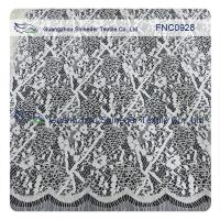 China Cord Lace Fabric Eyelash repeat Cotton&Nylon Fabric of Wave Line wholesale