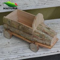 China Wooden Car Shaped Flower Planter for Garden wholesale