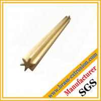 China copper extrusion rod brass hardwares brass gear sections profiles wholesale