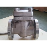 China Reduce Bore Forged Steel Valve Intergral Flange Piston Check Valve BC F11 F51 B16. 34 wholesale