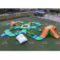 China 60 Players Giant inflatable Water Park Sea Floating Park Racing Obstacle Sport wholesale