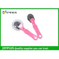 China New Designed Stainless Steel Scourer Ball With Plastic Handle wholesale