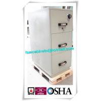 China 3 Drawer Fire Resistant Filing Cabinets For Storing Documents In Hotel / Office wholesale