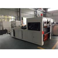 China Double Wall Paper Glass Making Machine , Paper Reel Cutting Machine With Embossing wholesale