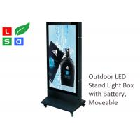 China Outdoor LED Poster Display 700x1000mm Double Sided With Super Bright LED Spot wholesale