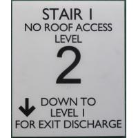 China Grade II Braille Stair Exit Signs , White  Disabled Sign 1/32 Raised Text / Graphic on sale