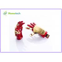 China USB flash drive Creative IRON MAN pendrive Palm Shape Movable Joint U Disk Portable wholesale