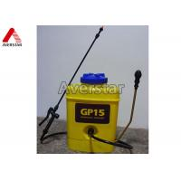 China 15L Portable Manual Pesticide Sprayer High Durability With Yellow Plastic Drum wholesale