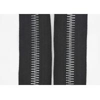 China 12 # Black Long Chainlarge Tooth Zippers , 28 Inch Metal Jacket Zipper  By Yard wholesale