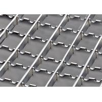 China Anti Slip Stainless Steel Serrated Grating, Sidewalk HDG Steel Grating With Clamp on sale