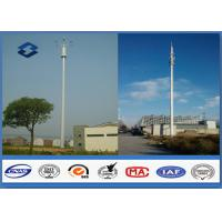 Buy cheap Microwave Mobile Cell Phone Tower Telecommunication pole HDG & Powder Coated from wholesalers
