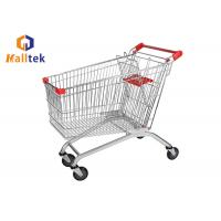China Power Coated European Style Small Grocery Shopping Carts Custom Logo Printing on sale