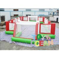 China Custom Portable Inflatable Sport Game Football Field With PVC Vinyl Net And Tube For Rental wholesale