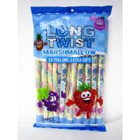 China Fruit Flavor Long Twisted Marshmallow Candy Bar Extra Long And Soft wholesale