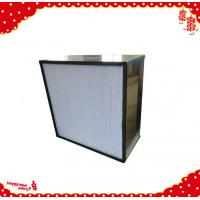 China 305x305x150mm stainless steel frame mini pleat high efficiency particulate air filter wholesale
