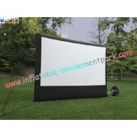 China Big Screen Outdoor Inflatable Movie Screen , Film Screening 5L x 4.5W Meter wholesale