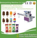 China Máquina automática de envasado de paletas con alimentador, máquina de envolver polos de hielo wholesale