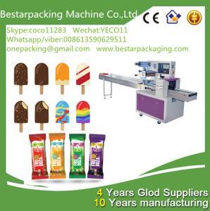 Buy cheap Máquina automática de envasado de paletas con alimentador, máquina de envolver polos de hielo from wholesalers