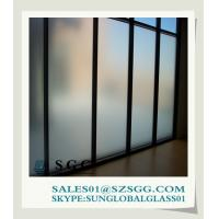 China 3mm-19mm opaque window acid etched glass on sale