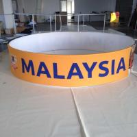 Quality Promotions Hanging Trade Show Displays And Ceiling Sign With Tension Fabric for sale