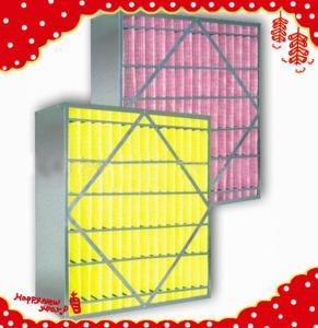 China 595x595x295mm (24″×24″×12″) synthetic fiber medium efficiency rigid box air filter wholesale