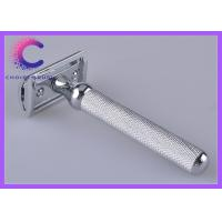 Quality Deluxe chome safety lined engraved metal handle razor  , 2 blade razor for sale