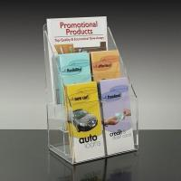 China Clear Acrylic Display Shelves plastic stand holder for leaflets, brochures merchandise wholesale